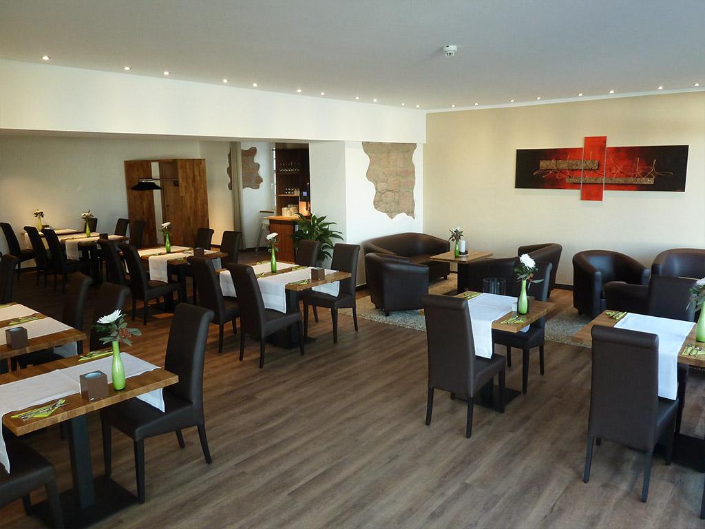 Frühstücks Lounge im Hotel Saline in Büdingen