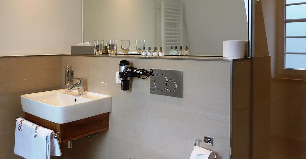 Badezimmer Hotel-Saline